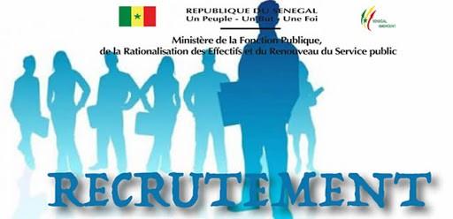 Entrée dans la Fonction publique du Sénégal