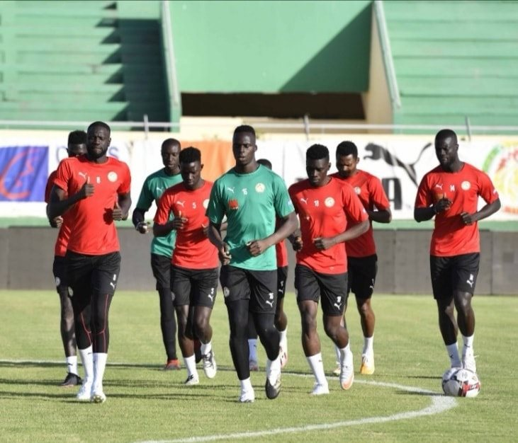 2ème séance d'entrainement des lions du Sénégal