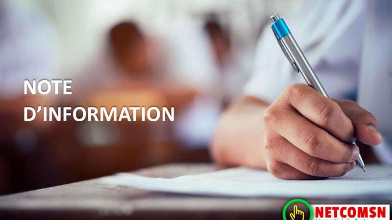 Note d'information admission en première année 2020-2021 pour les titulaires de BT