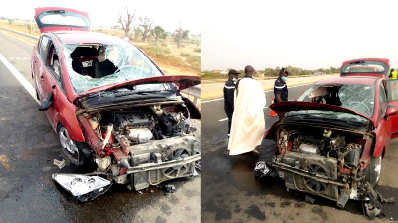 Le Saltigué Koromack Faye victime d'un accident sur l'autoroute à péage (Images)