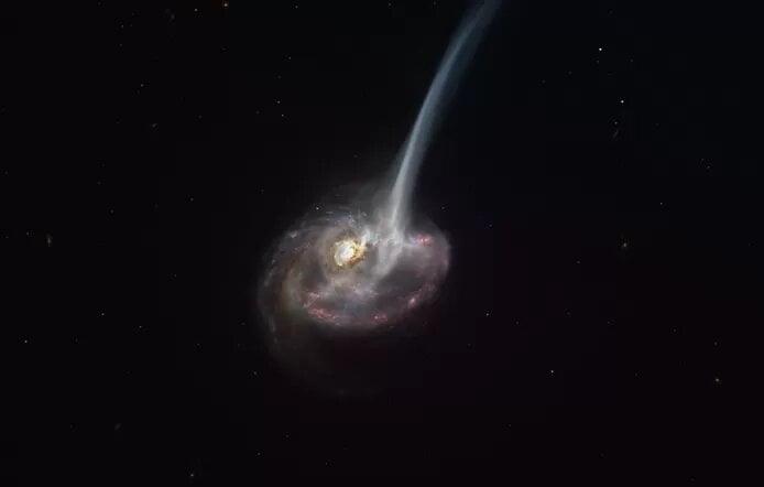 La mort d'une galaxie lointaine observée pour la première fois