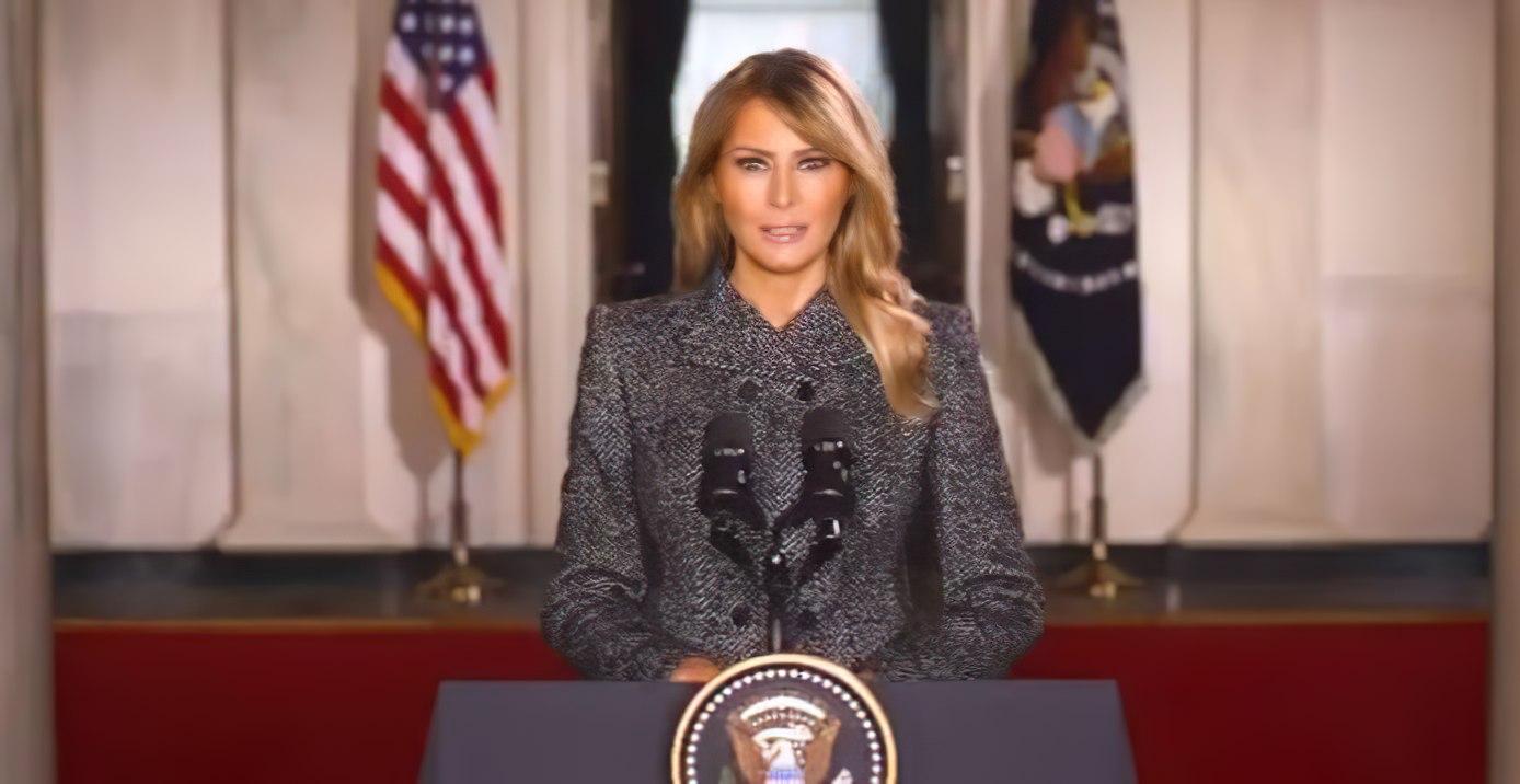 "La vidéo d'adieu de Melania Trump: ""La violence n'est jamais la solution"""