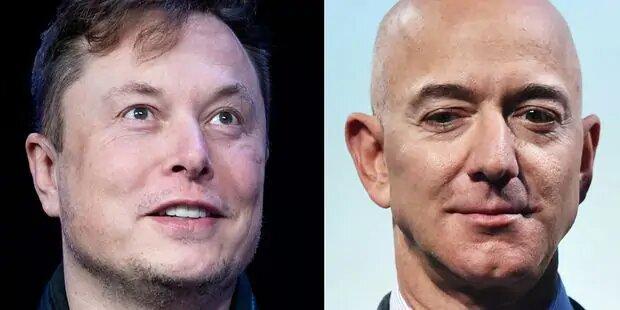 Le ton monte entre Elon Musk et Jeff Bezos, qui se font la guerre dans l'espace