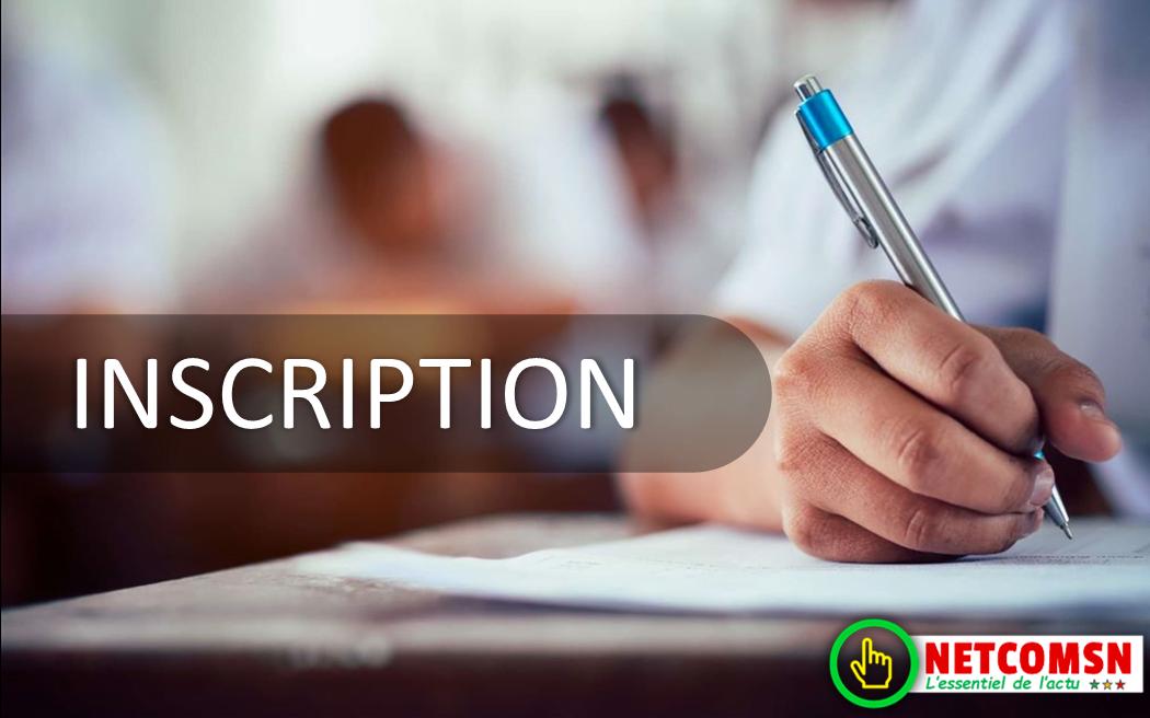Procédure d'inscription / préinscription en ligne UCAD (2020-2021)