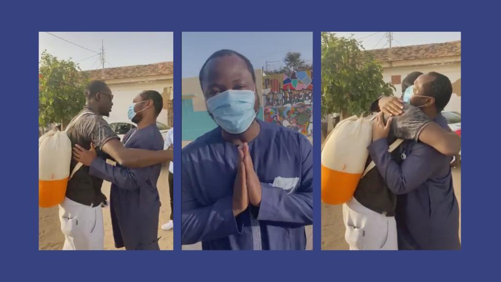 Les images de la sortie de prison de Guy Marius et Assane Diouf