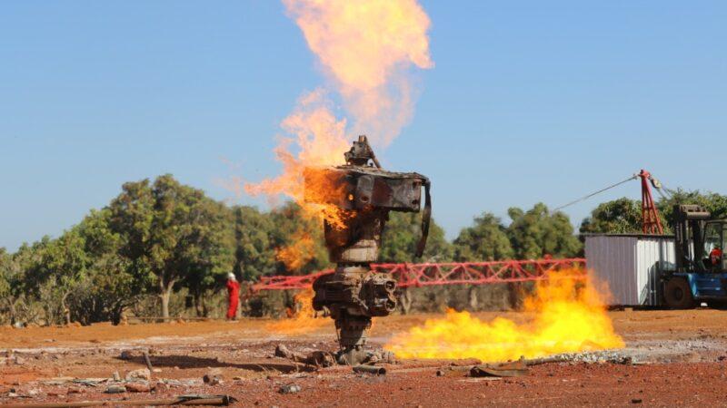 Extinction du puit de gaz de Ngadiaga