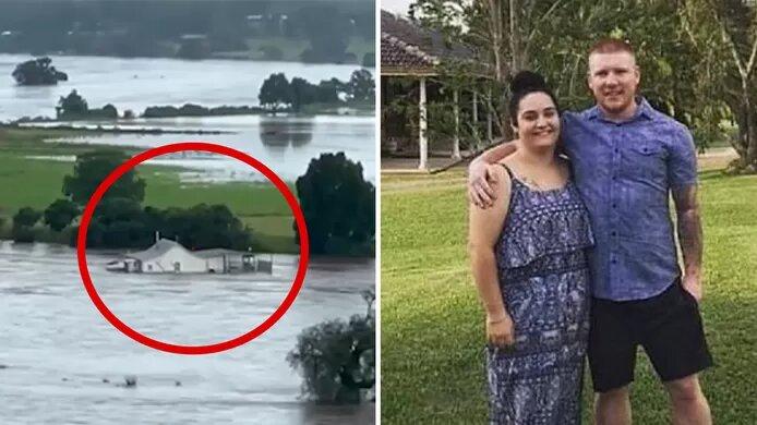 """Un couple voit sa maison emportée par le courant le jour de son mariage: """"Elle flottait comme une péniche"""""""