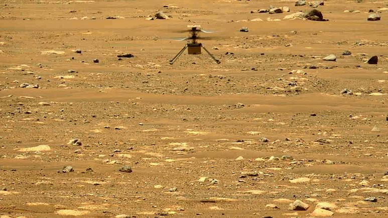Mars : la Nasa diffuse pour la première fois le son de l'hélicoptère Ingenuity en vol