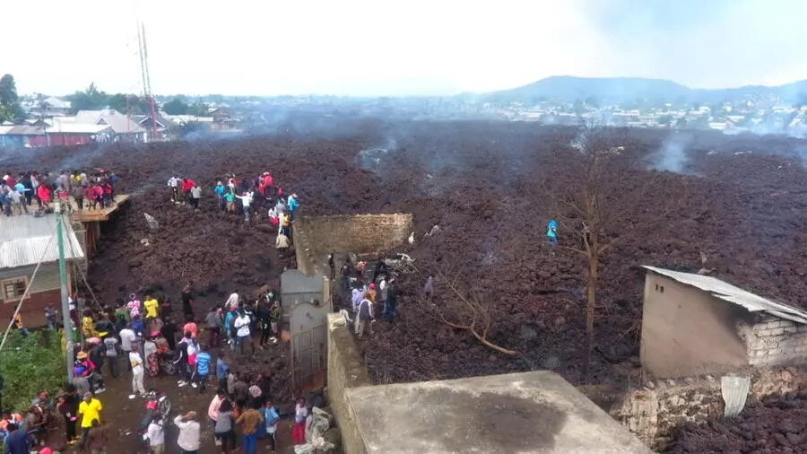 RDC: après l'éruption du volcan Nyiragongo, Goma fait le bilan de la catastrophe