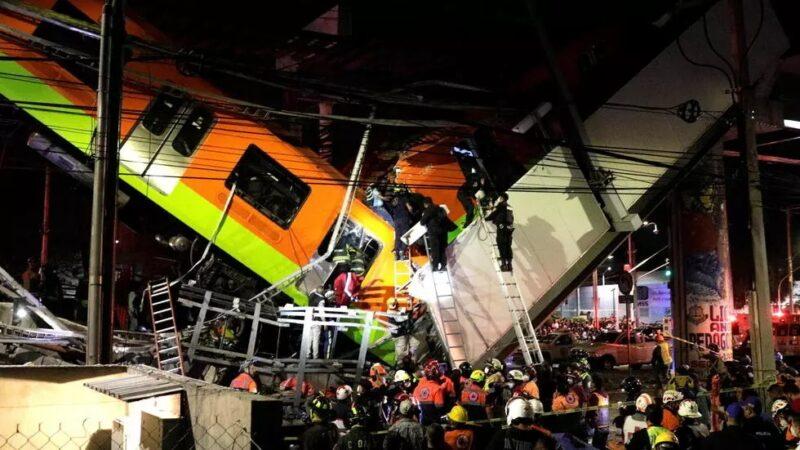 Mexique : Un pont s'effondre sous le poids d'un métro, plus de 20 morts