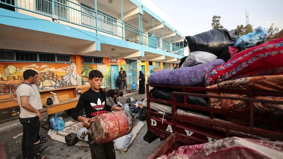 Gaza: après les bombardements, les familles dans les écoles de l'agence de l'ONU pour les réfugiés