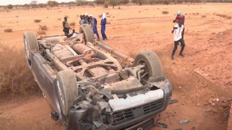 Tournée économique: le véhicule de Mbaye Pekh et Bara Dolly fait un accident