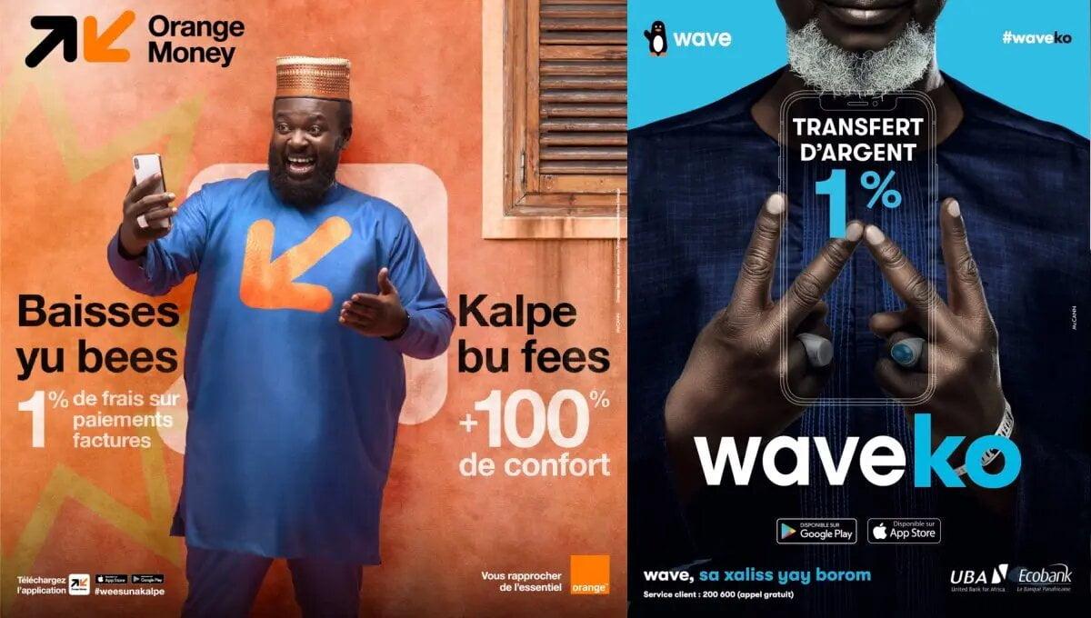 La bataille fait rage entre Wave et Orange Money au Sénégal
