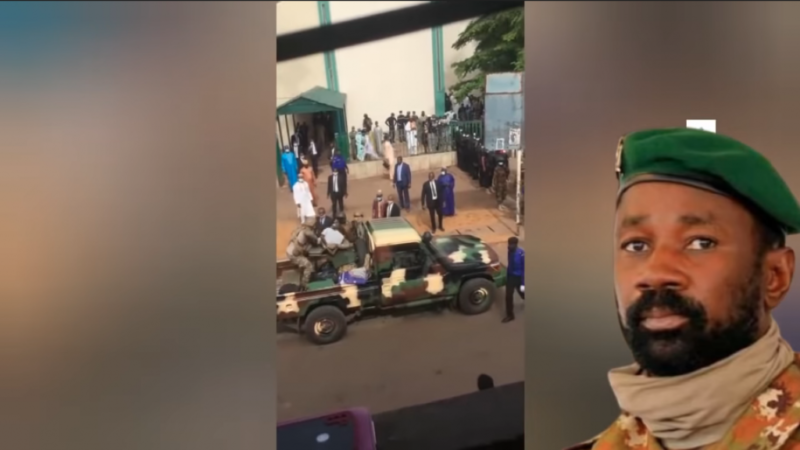 Tentative d'assassinat de Goita: Les images de l'exfiltration du suspect