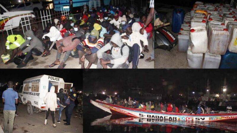 Immigration: une pirogue de 71 personnes interceptée au large de Djifer