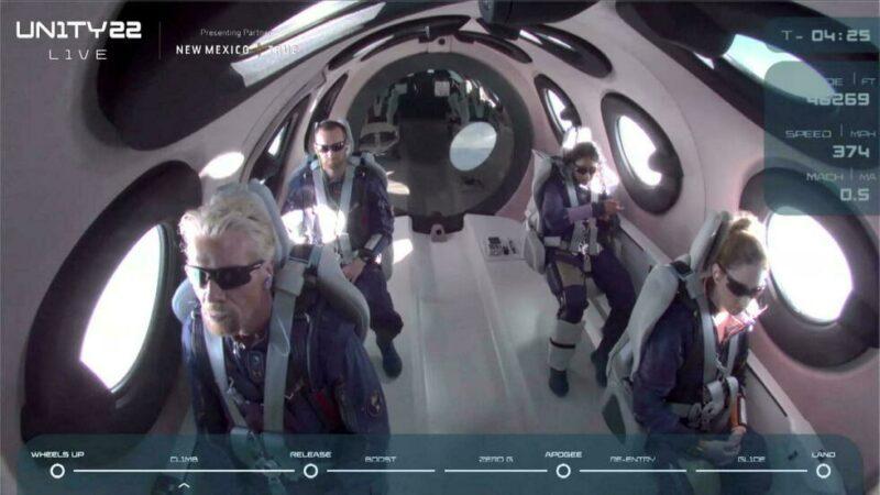Le milliardaire Richard Branson a atterri après son vol dans l'espace